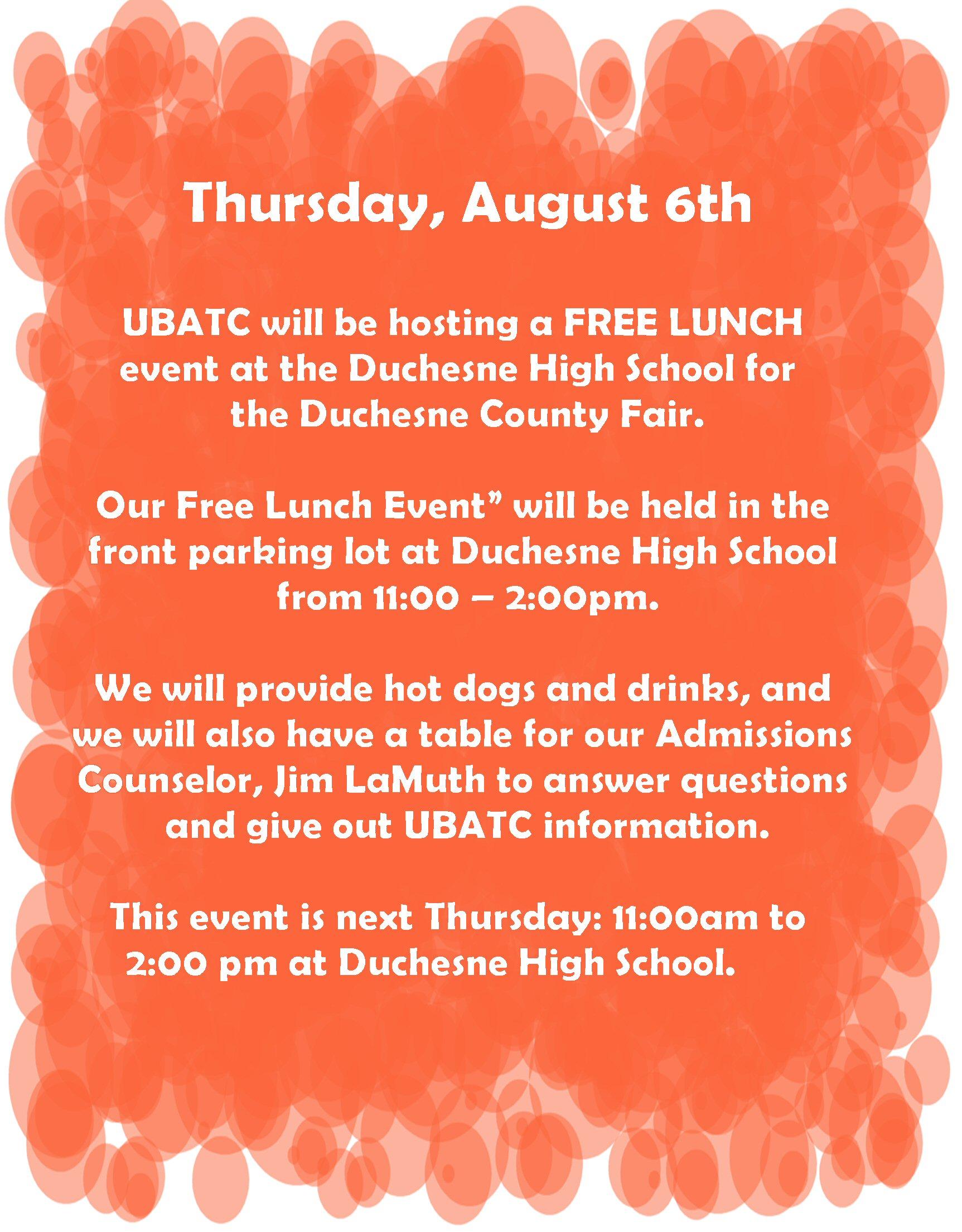 UBATC Lunch