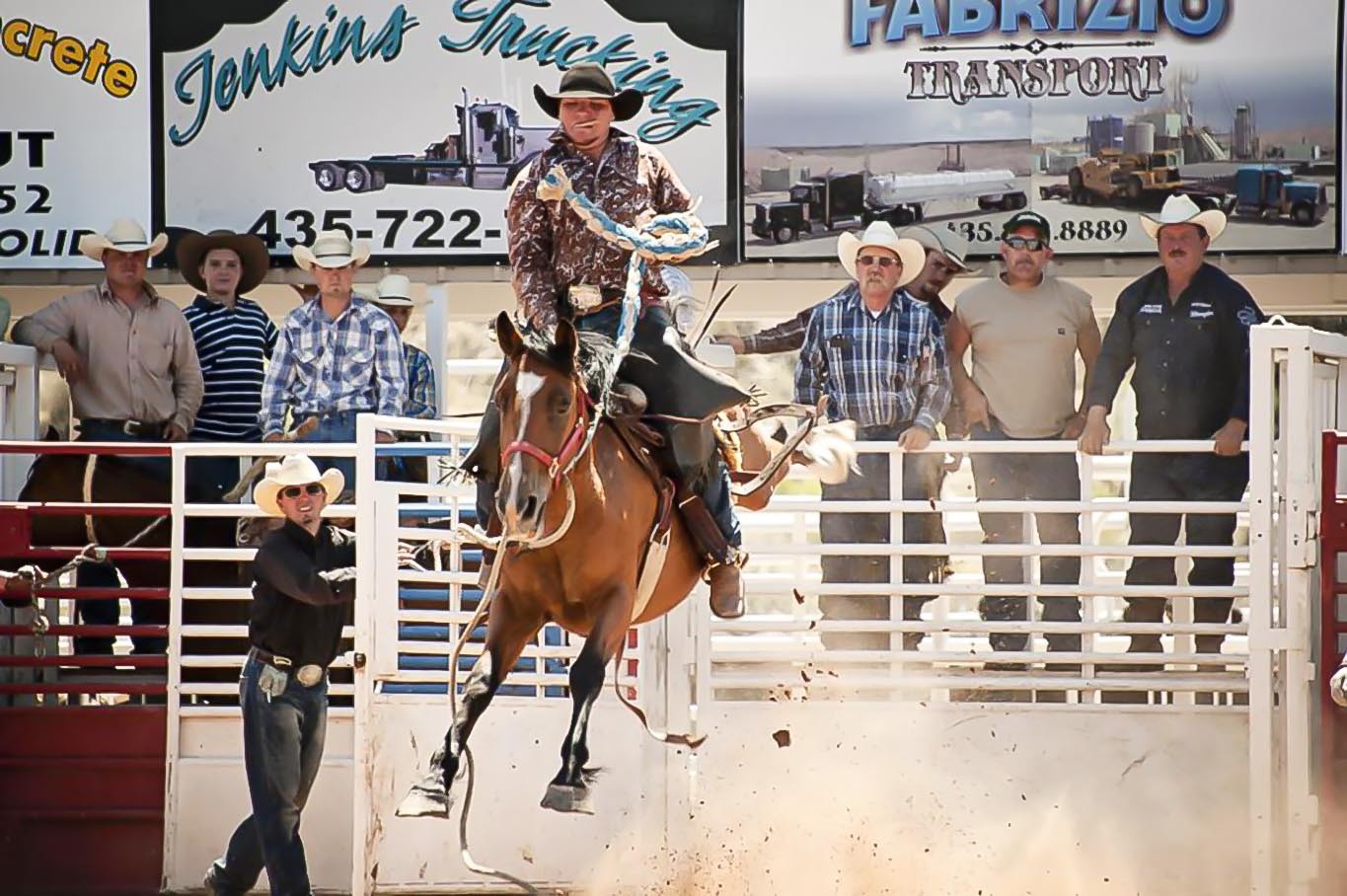 Bucking Horse and Rider at the Duchesne County Fair