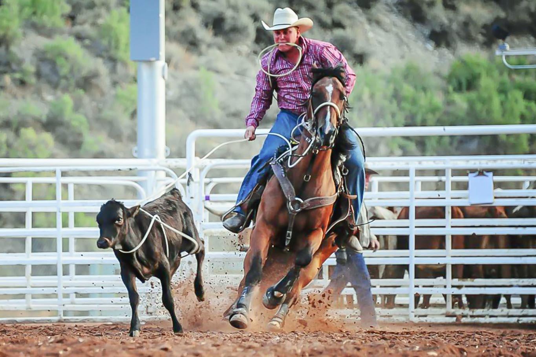 Duchesne Country Fair Calf Racing